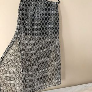 Maxi Skirt with Sheer Material and Slit